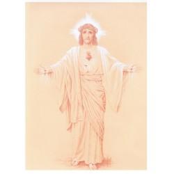 """Poster Sacré-Coeur """"Je viens régner dans les coeurs"""" Petit modèle"""