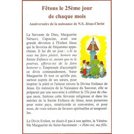 Dépliant- Fêtons le 25ème jour de chaque mois et Oraison de Sainte Colette