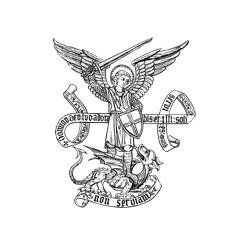 Autocollant - Archange Saint Michel
